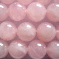 16 Inch Semi Precious Rose Quartz 4mm Round Beads